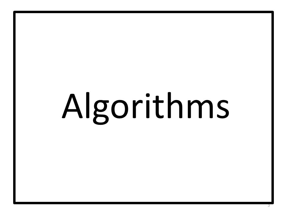 Algorithms 3
