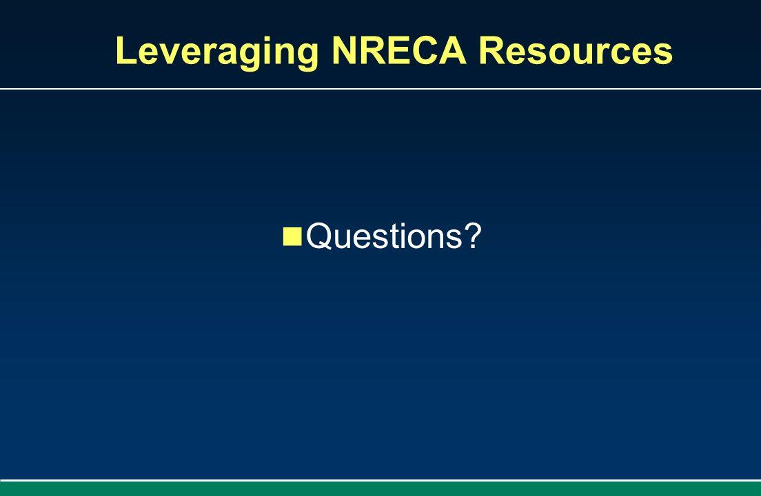 Leveraging NRECA Resources Questions?