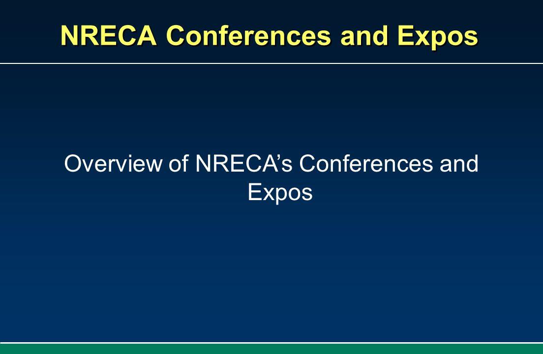 NRECA Conferences and Expos Overview of NRECAs Conferences and Expos