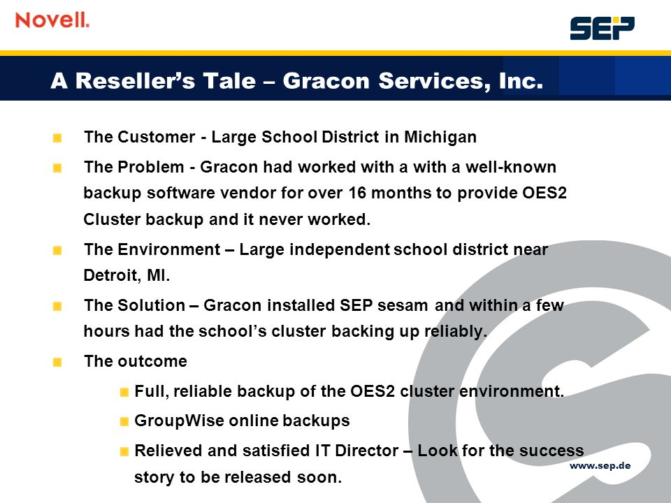 A Resellers Tale – Gracon Services, Inc.