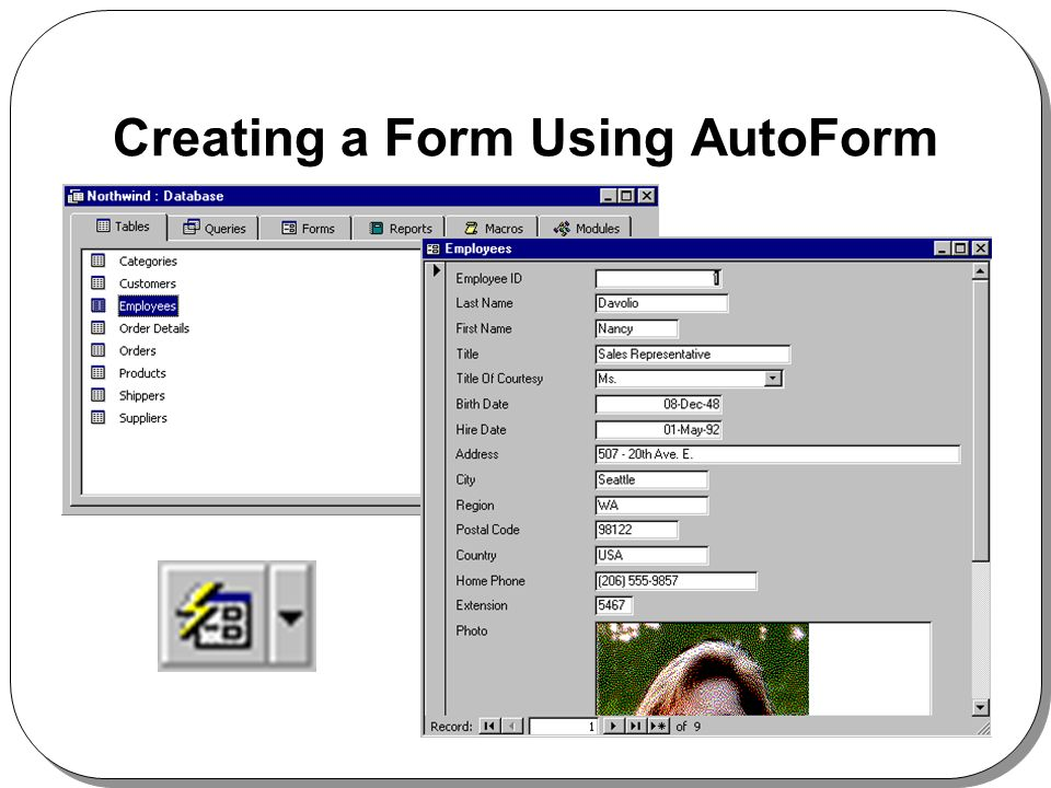 Creating a Form Using AutoForm