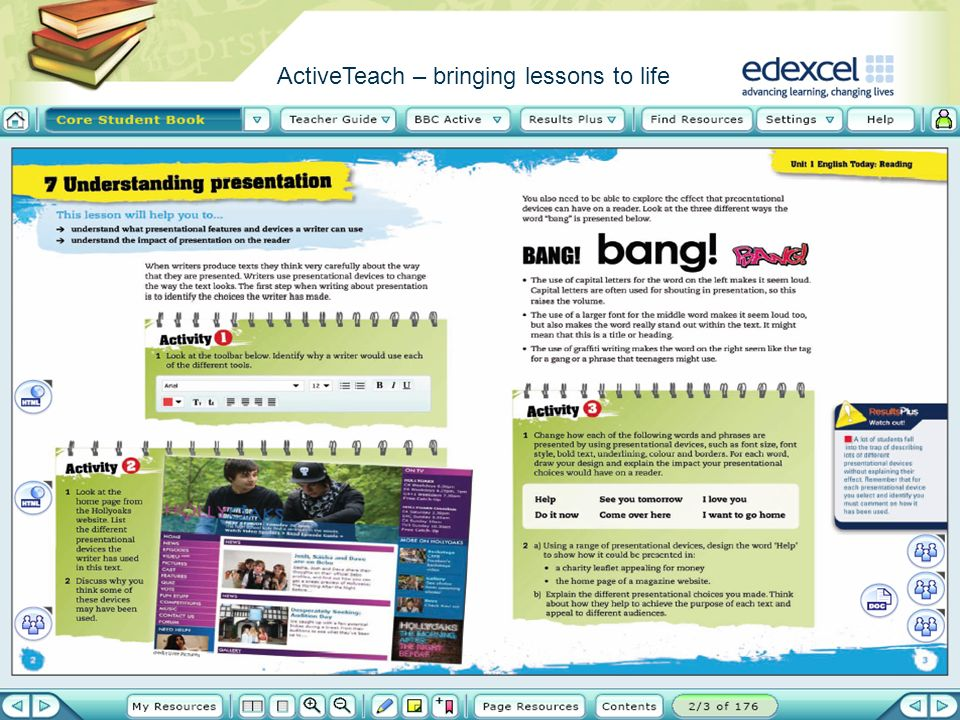ActiveTeach – bringing lessons to life