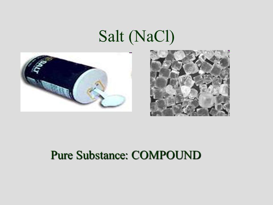 Pure Substance: COMPOUND