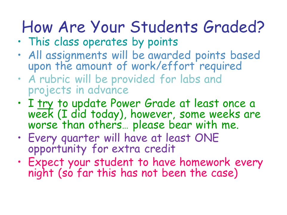 How Are Your Students Graded.
