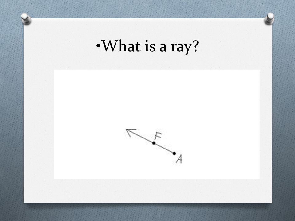 What is a ray?