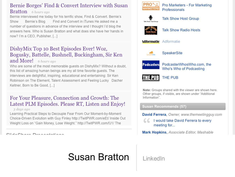 Susan Bratton LinkedIn