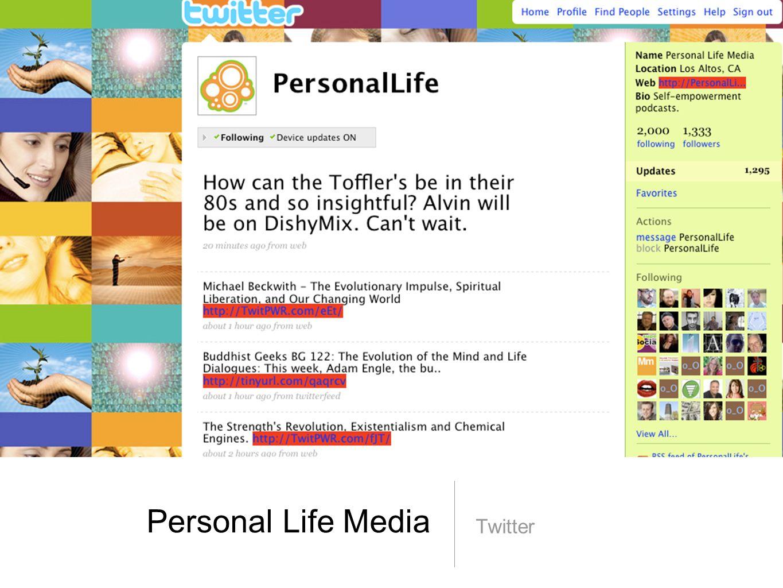 Personal Life Media Twitter