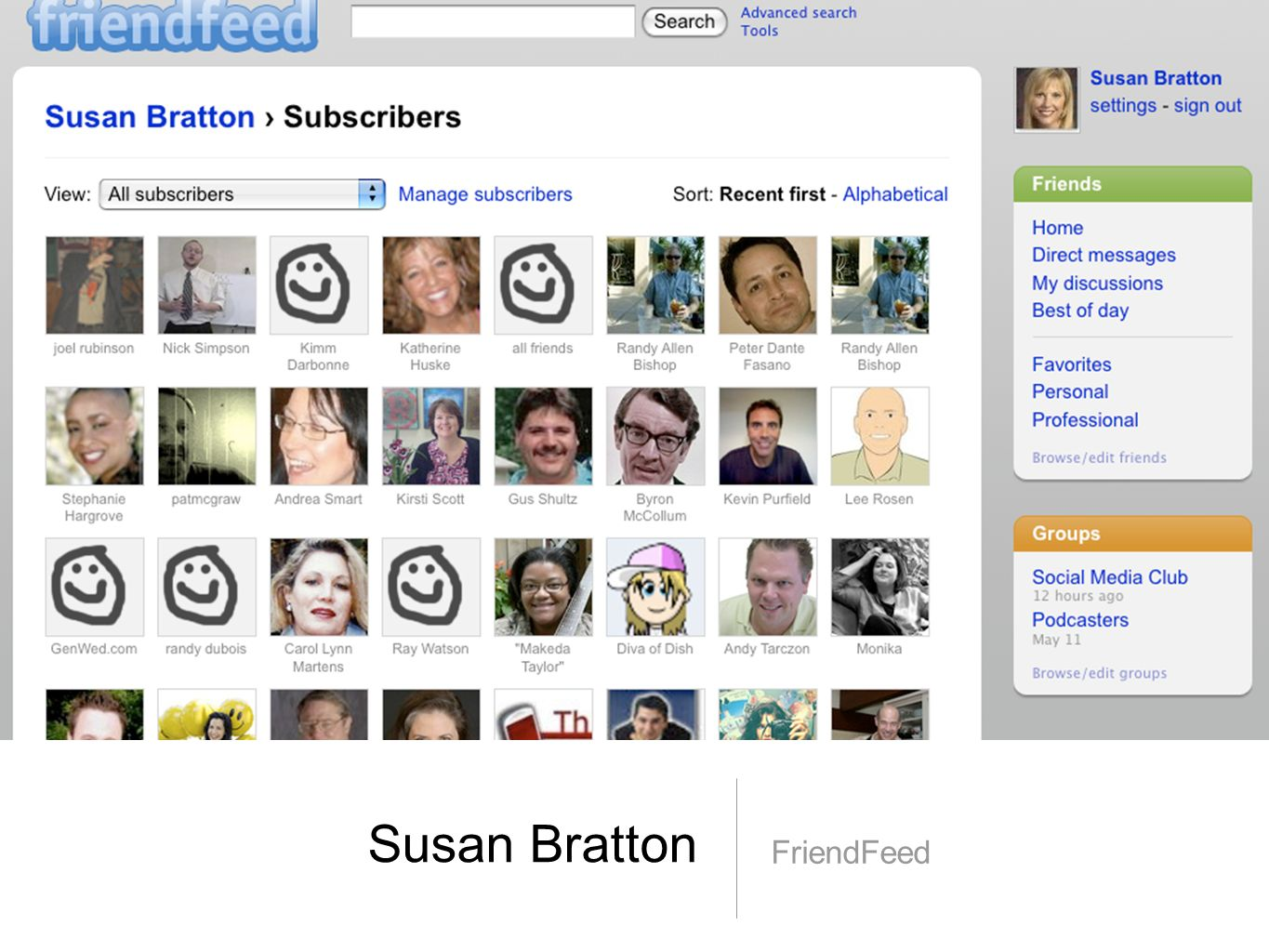Susan Bratton FriendFeed