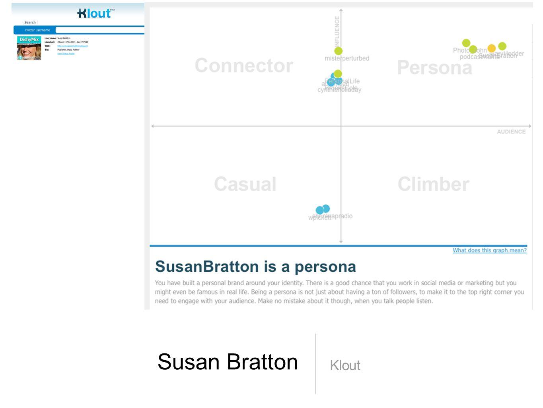 Susan Bratton Klout