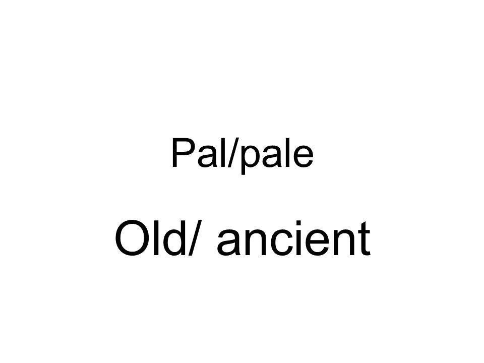 Pal/pale Old/ ancient