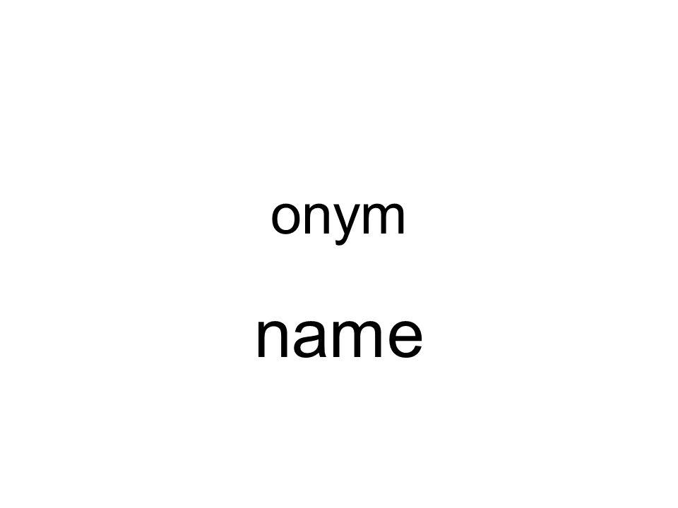 onym name