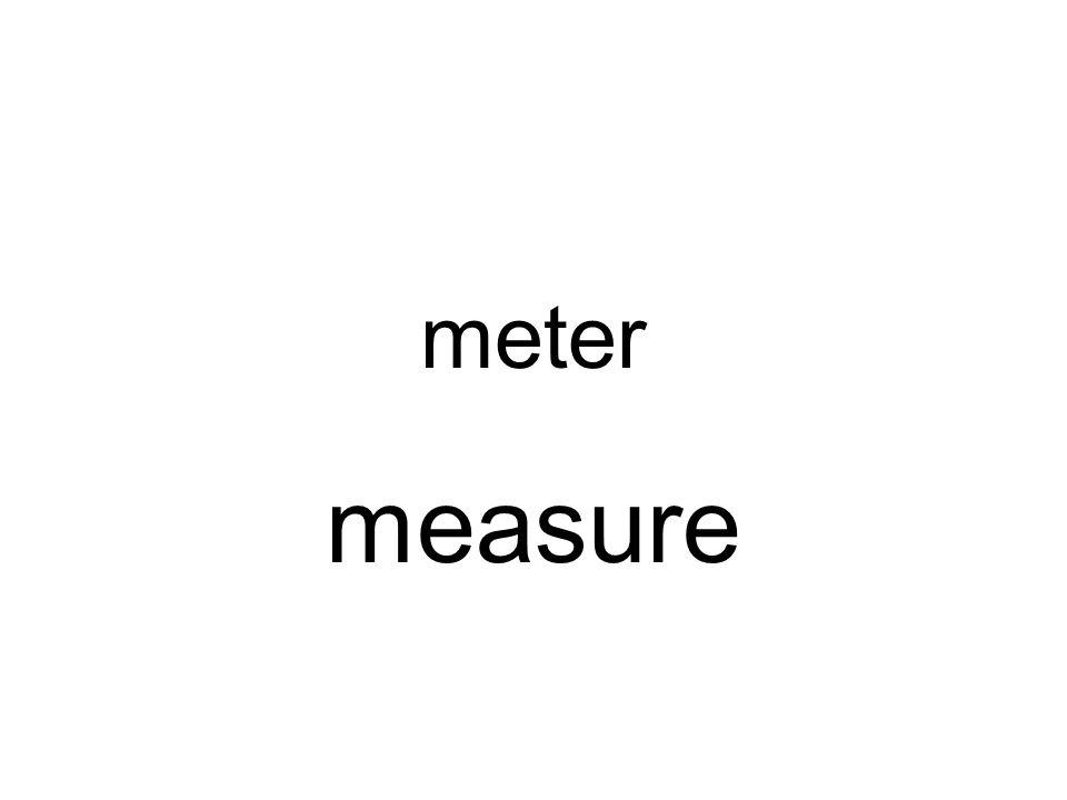 meter measure
