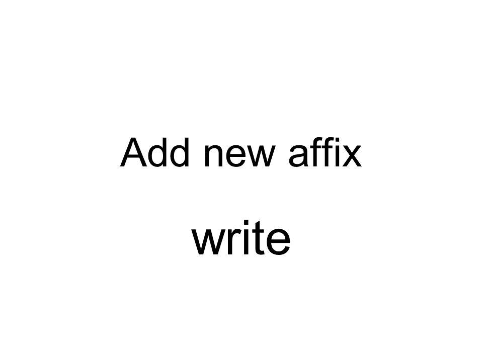 Add new affix write