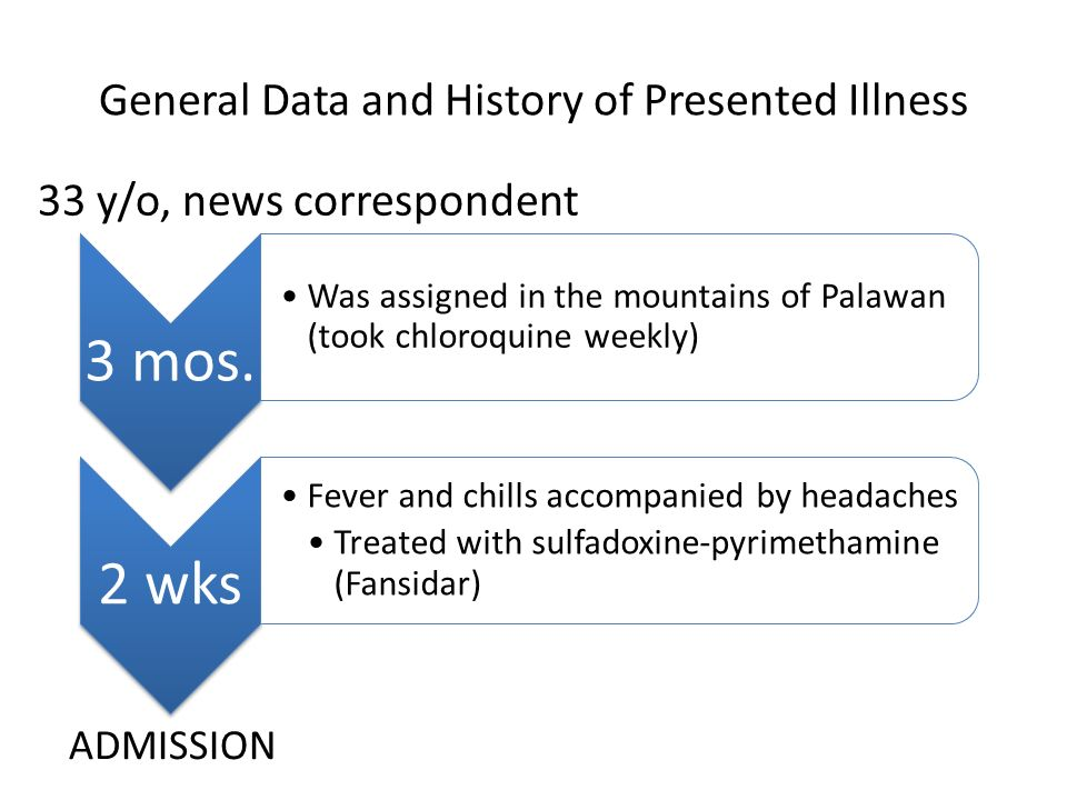 General Data and History of Presented Illness 3 mos.