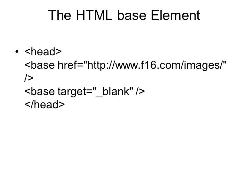 The HTML base Element