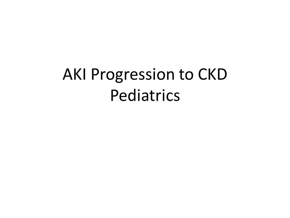 How does AKI progress to CKD.