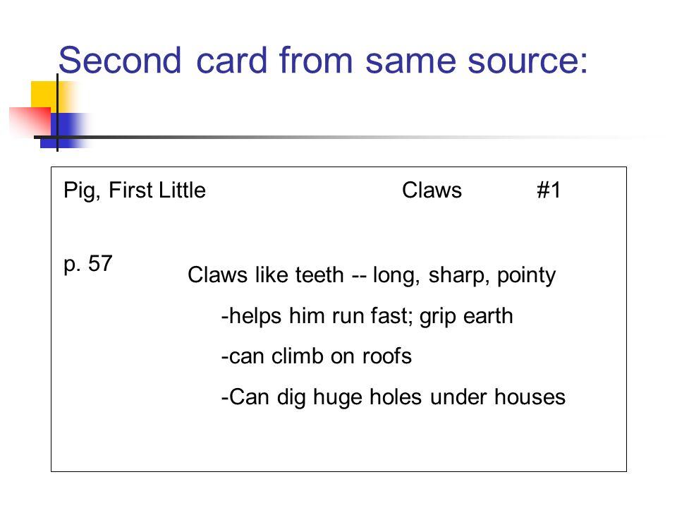 Third card: different source Hood, L.R.R.Teeth#1 p.