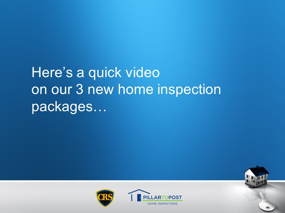 Heres a quick video on our 3 new home inspection packages…