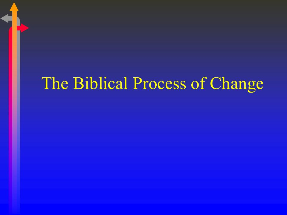 The Biblical Process of Change