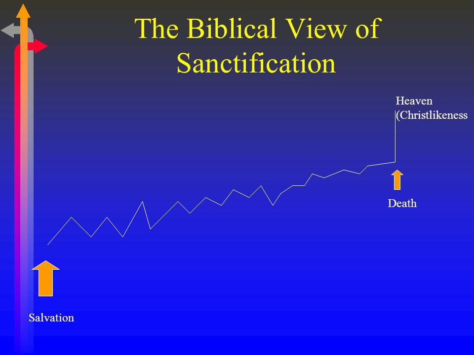 The Biblical View of Sanctification Salvation Heaven (Christlikeness Death