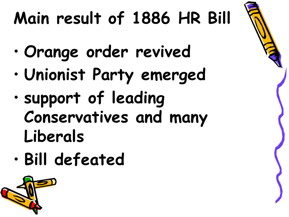 1893 Second HR Bill Gladstone and Liberals - Back in govt.