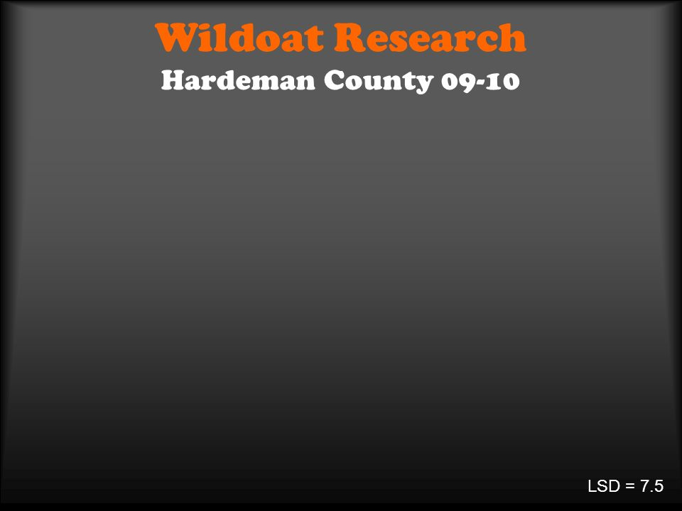 Wildoat Research Hardeman County 09-10 LSD = 7.5