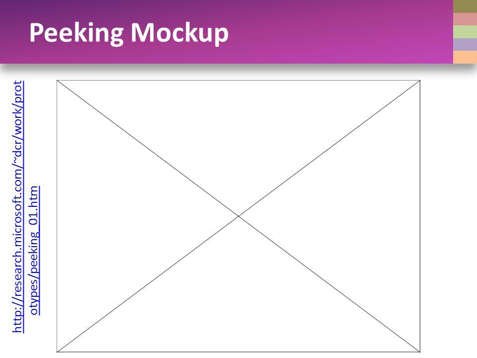 http://research.microsoft.com/~dcr/work/prot otypes/peeking_01.htm Peeking Mockup