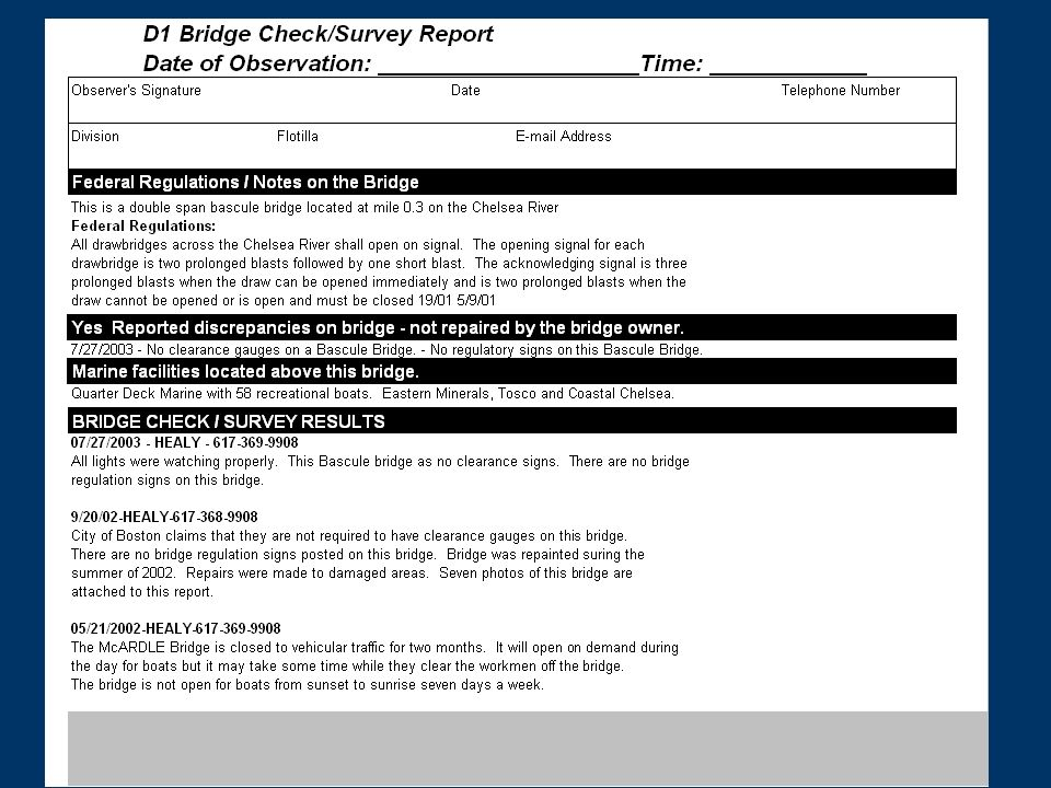 Complete the Fender System Survey section. Circle only the items that apply to this bridge.