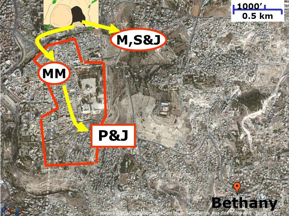 197 1000 0.5 km MM M,S&J P&J Bethany
