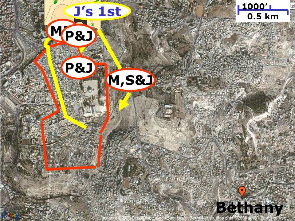 198 1000 0.5 km Bethany P&J M,S&J MM P&J Js 1st