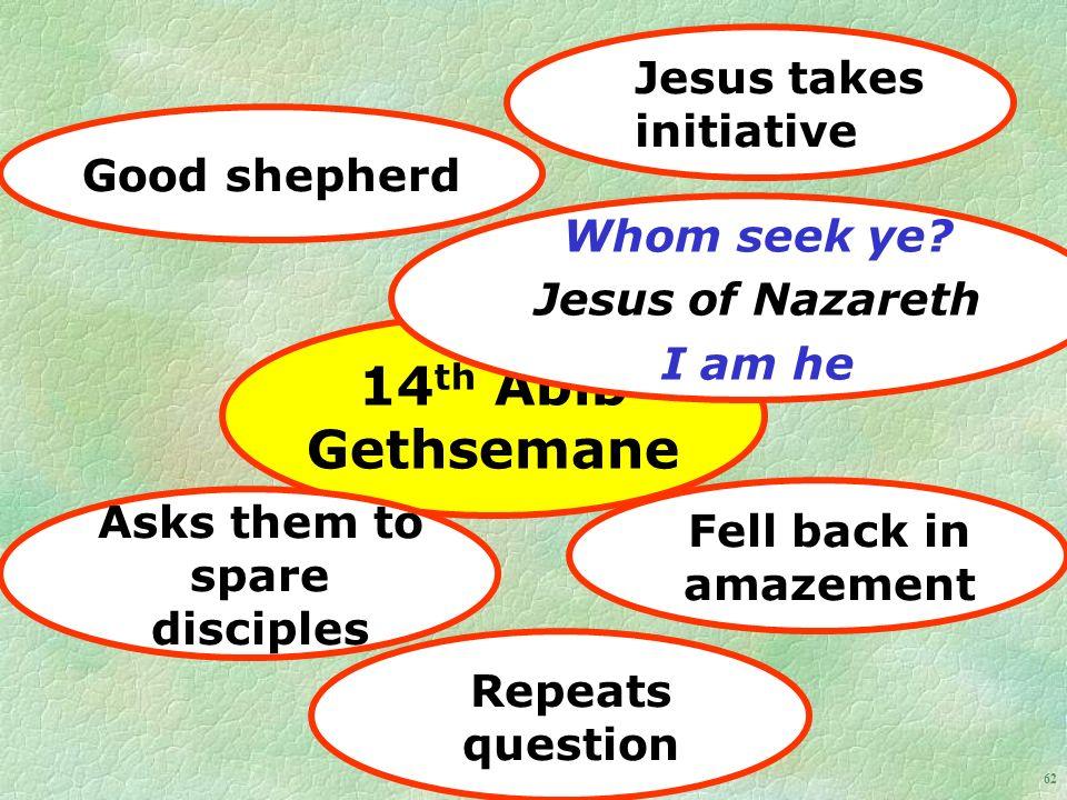62 14 th Abib Gethsemane Whom seek ye.