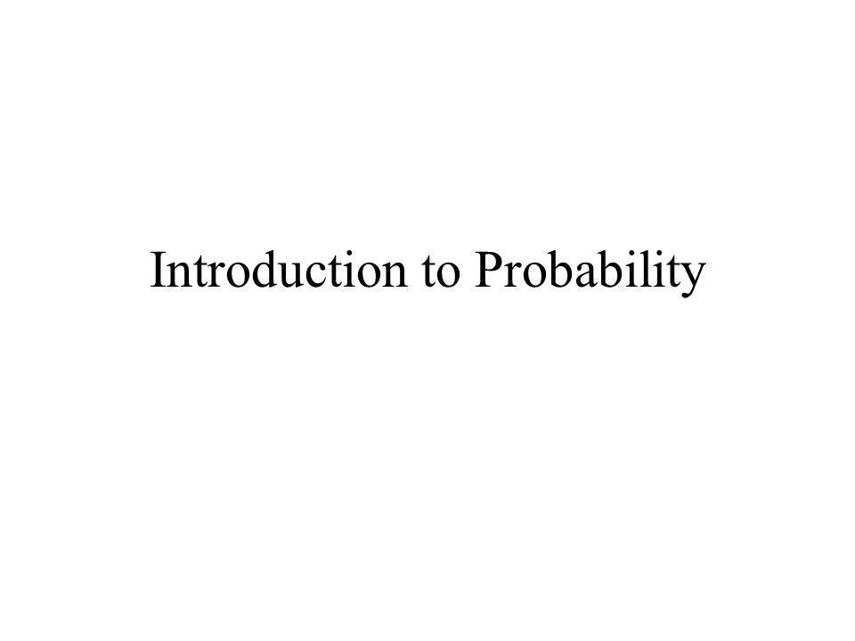 Probability Throwing dice, tossing coins, picking cards - in each case each outcome is equally likely It is not always the case that all possible outcomes of a trial are equally likely.