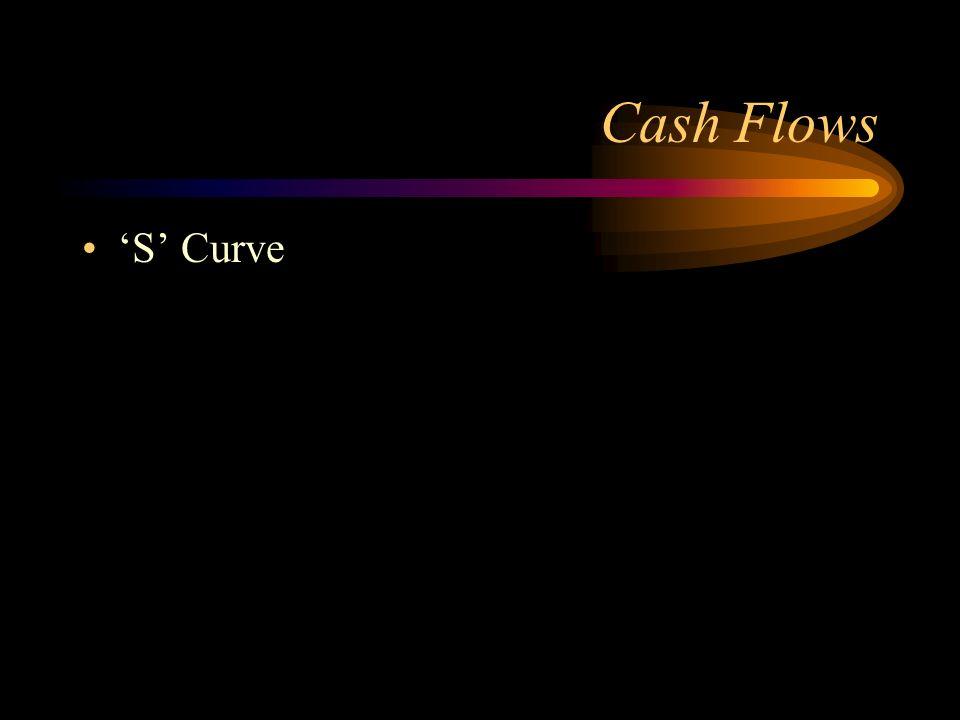 Cash Flows S Curve