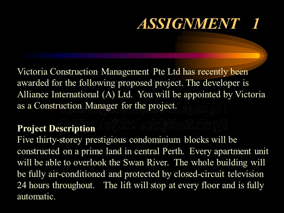 Victoria Construction Management Pte Ltd has recently been awarded for the following proposed project. The developer is Alliance International (A) Ltd