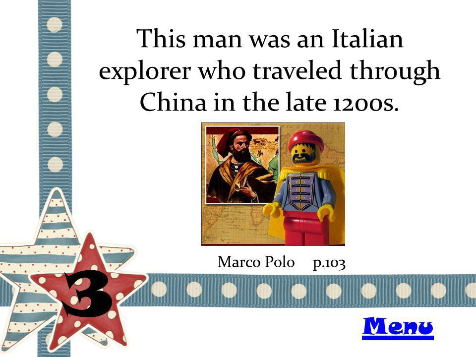 This man was an Italian explorer who traveled through China in the late 1200s.