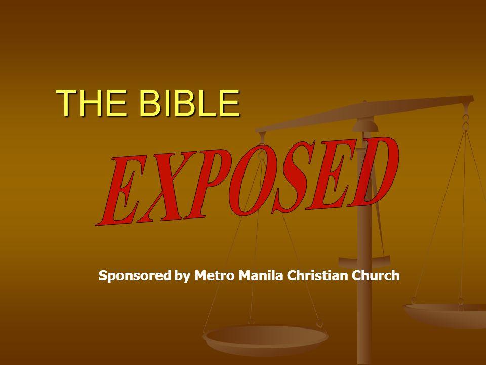 THE BIBLE Sponsored by Metro Manila Christian Church