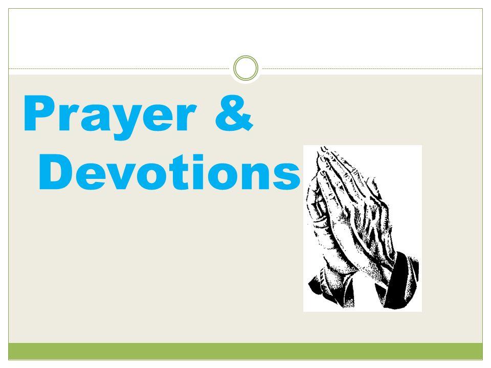 Prayer & Devotions