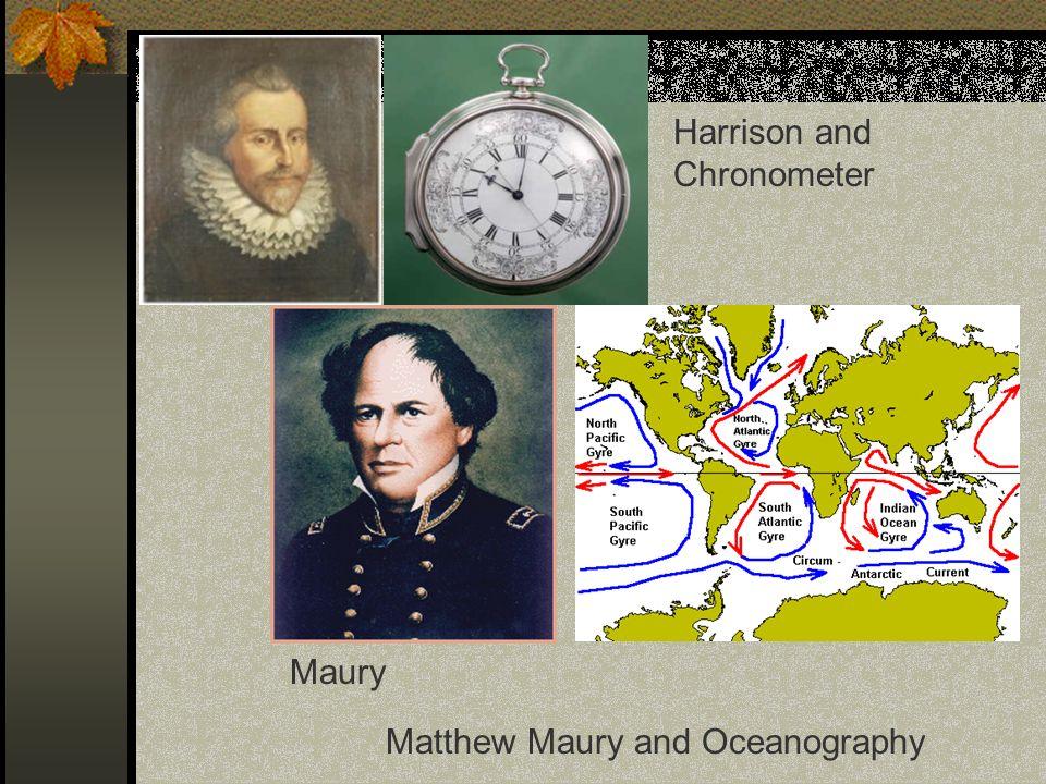 Harrison and Chronometer Maury Matthew Maury and Oceanography