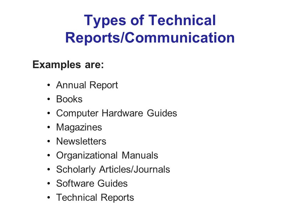 Technical writing report