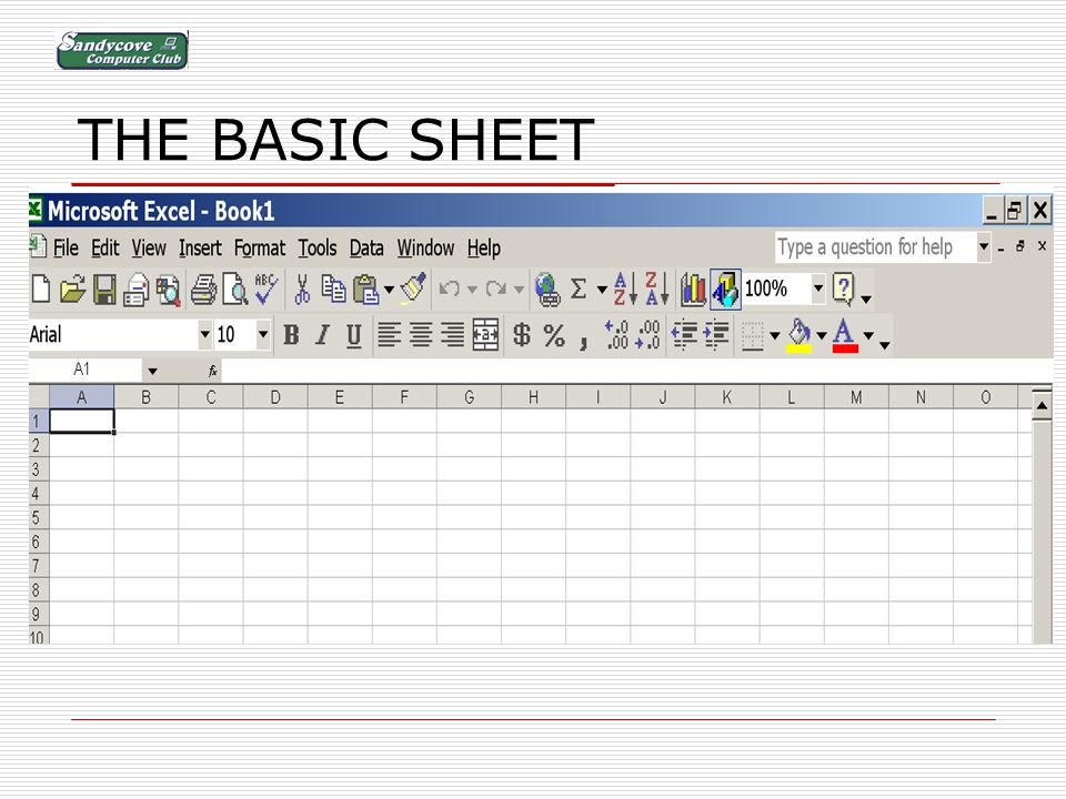 THE BASIC SHEET