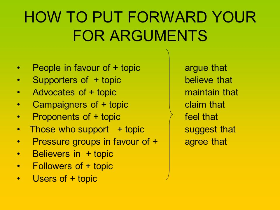 HOW TO ADD FURTHER INFORMATION TO SUPPORT YOUR ARGUMENT AND is used when you want to join two similar ideas, some alternatives are: thereforemoreover also apart from thatas a result accordingly on top of thatconsequentlyin addition thusfurthermore hencewhat is more