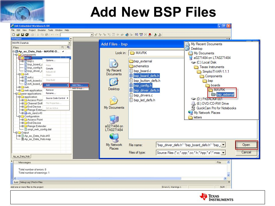 Add New BSP Files
