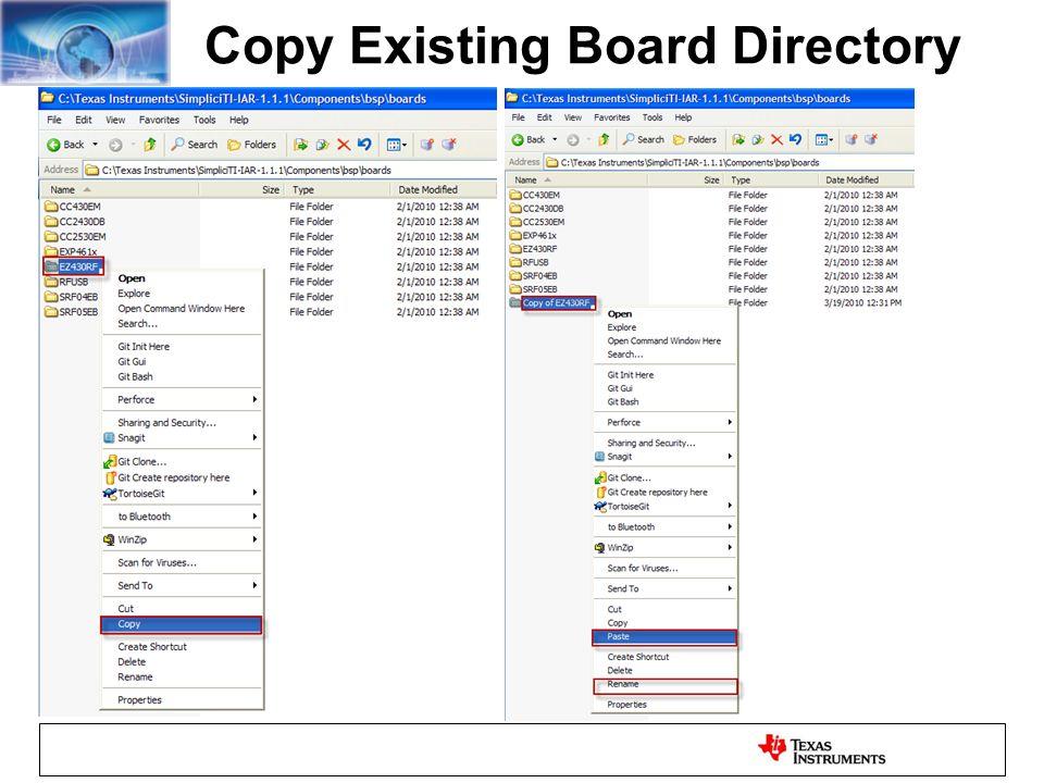 Copy Existing Board Directory