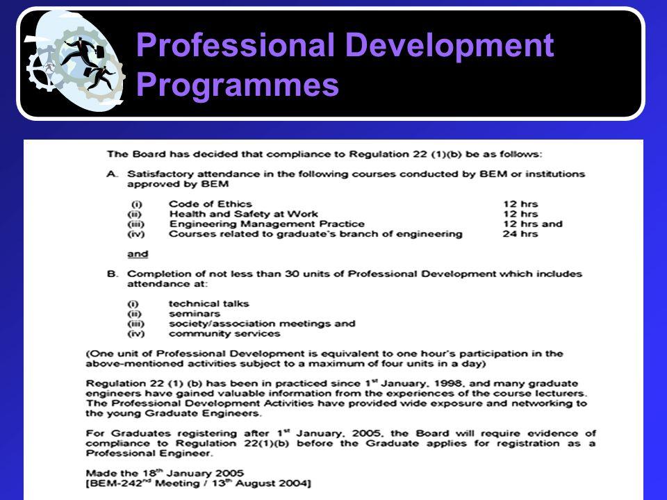 Professional Development Programmes