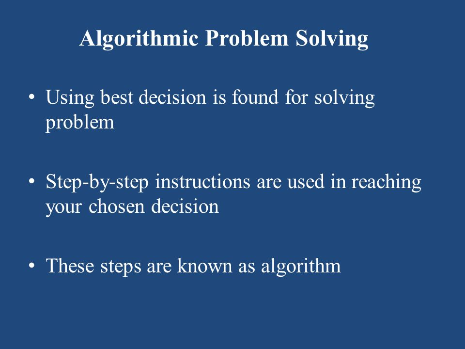 Heuristic Problem Solving Cannot be always be reached through a series of steps but instead require using: Reasoning built on knowledge and experience Process of trial and error
