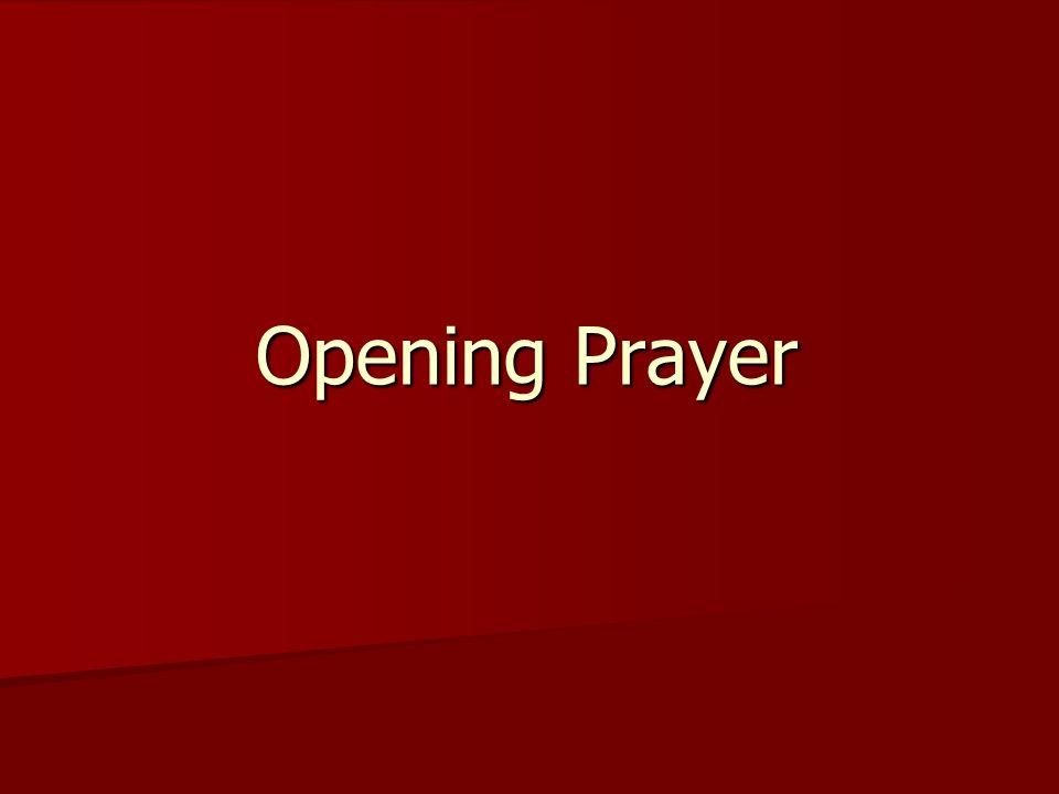 Opening Prayer
