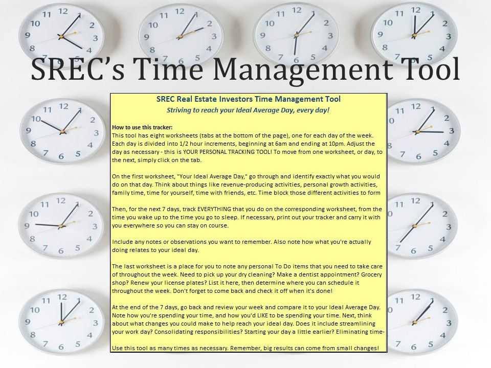SRECs Time Management Tool