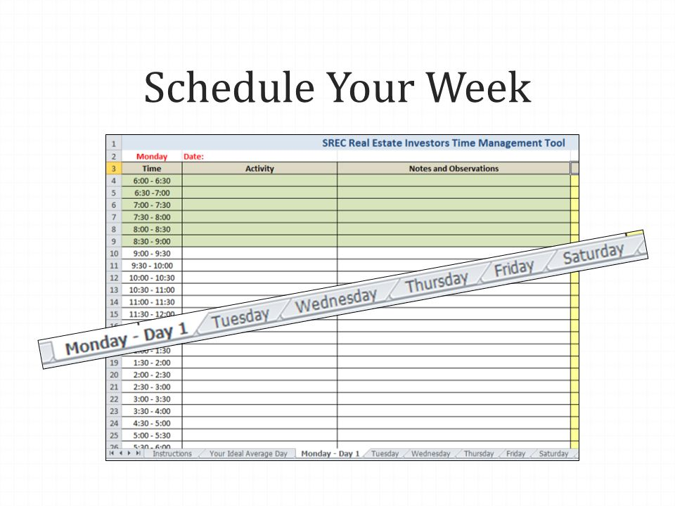 Schedule Your Week