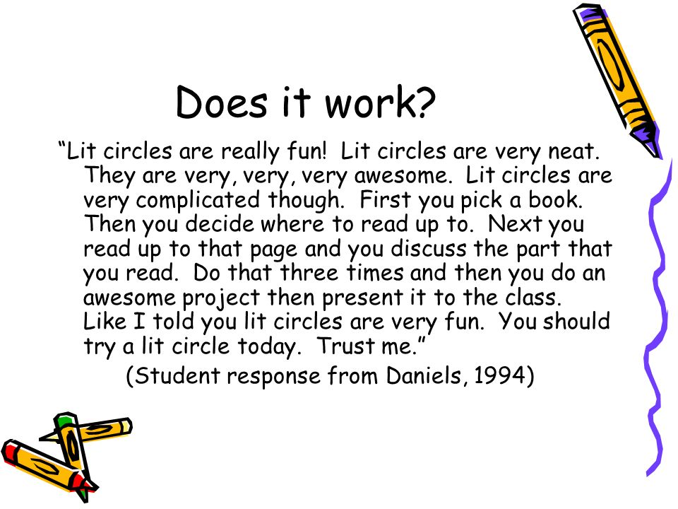 Does it work? Lit circles are really fun! Lit circles are very neat. They are very, very, very awesome. Lit circles are very complicated though. First