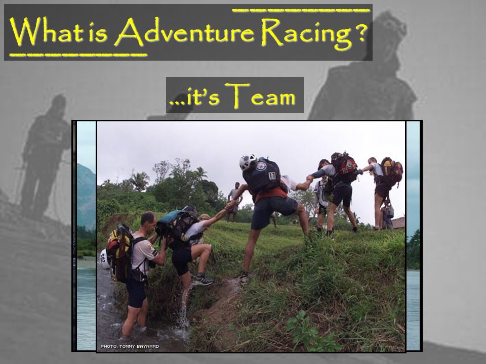What is Adventure Racing ________ ________ …its Team